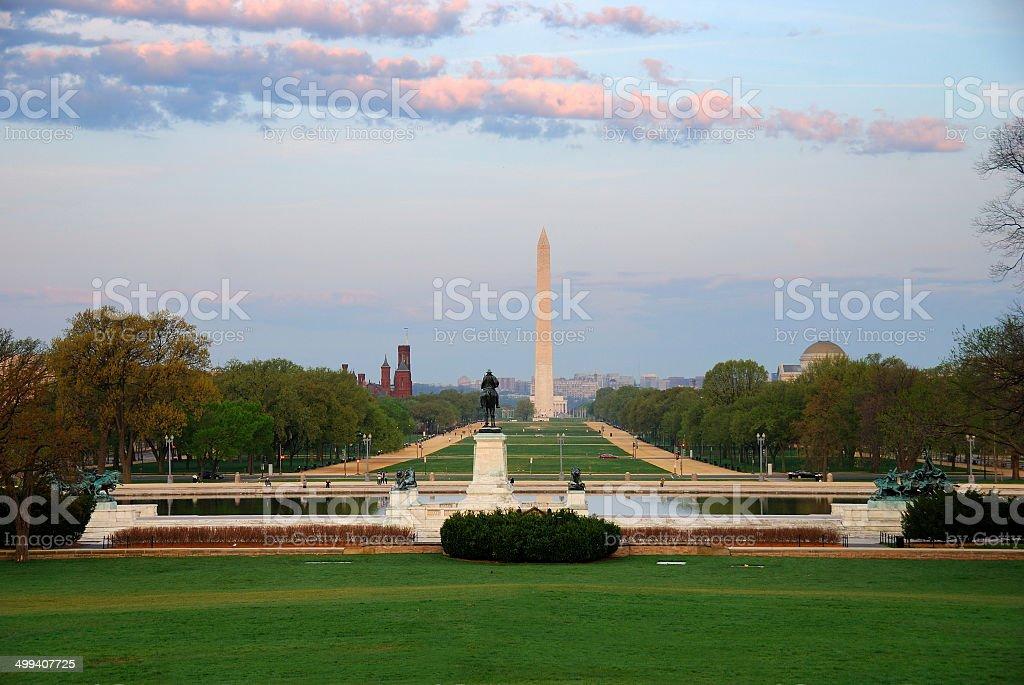 National Mall, Washington DC. stock photo