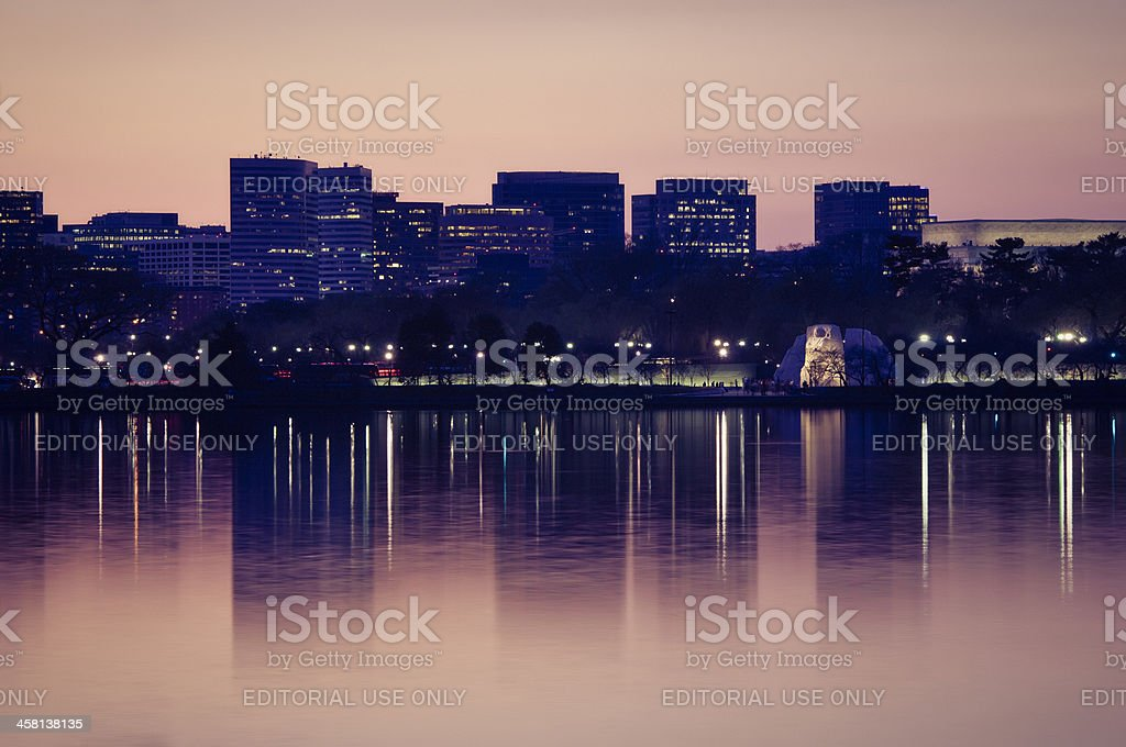 National Mall with Rosslyn, VA in the background royalty-free stock photo