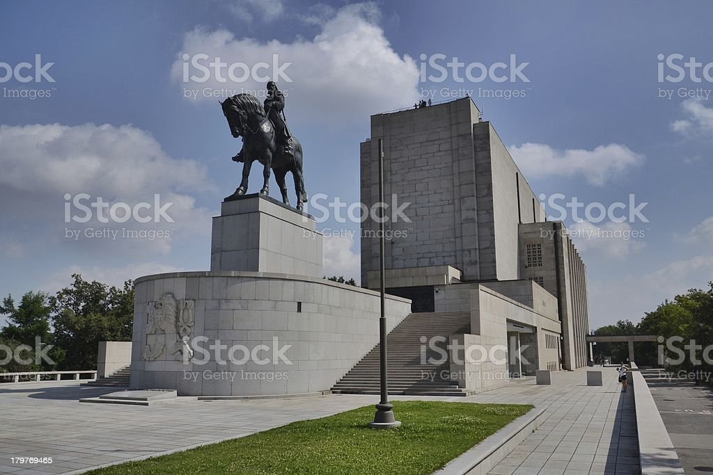 National memorial at Prague stock photo