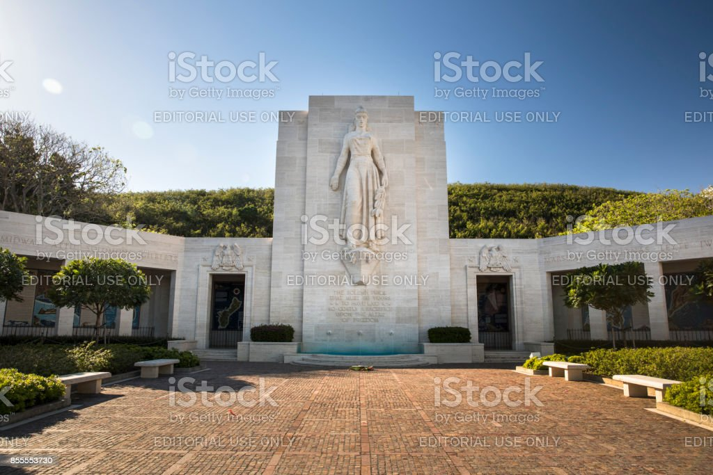 National Memorial Cemetery of the Pacific stock photo