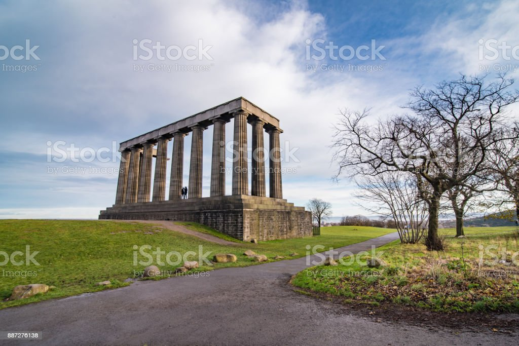 National Monument in Edinburgh stock photo