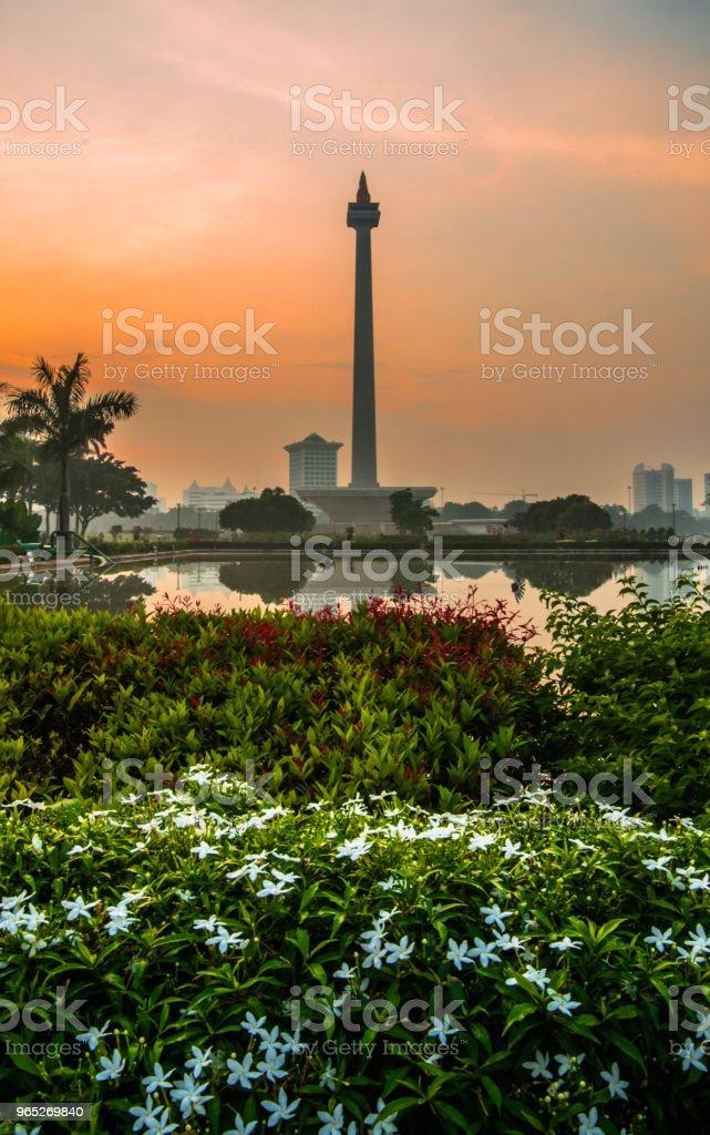 National Monument of Jakarta zbiór zdjęć royalty-free