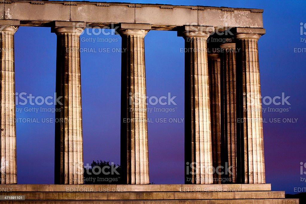 National Monument of Scotland royalty-free stock photo
