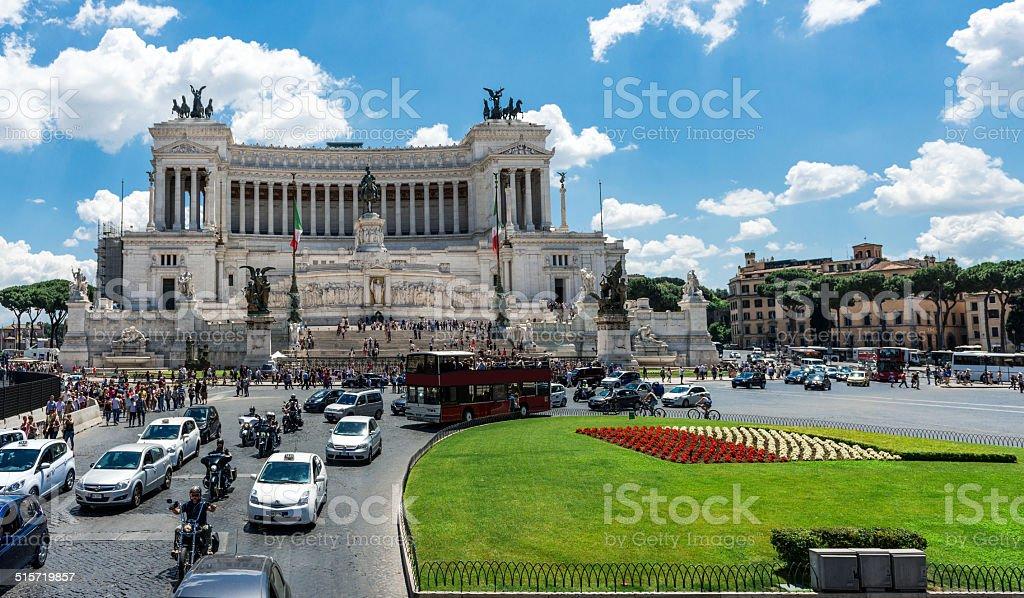 Monumento nazionale a Vittorio Emanuele II - foto stock