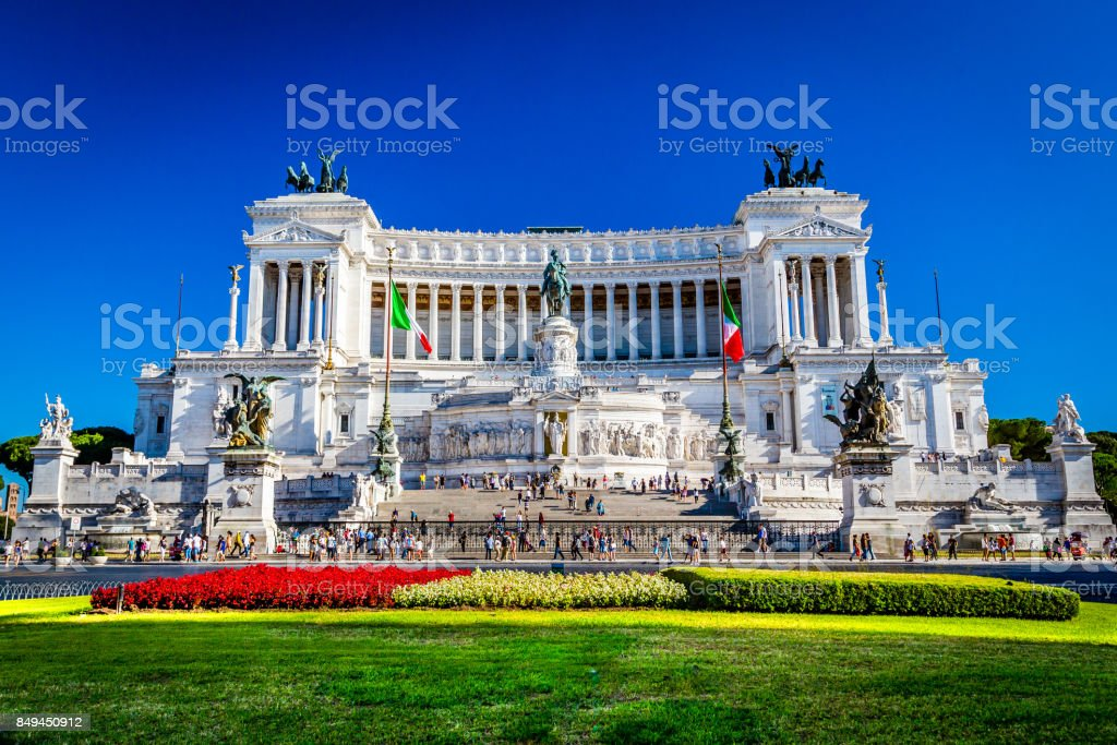 National Monument  Victor Emmanuel II, Rome, Italy stock photo