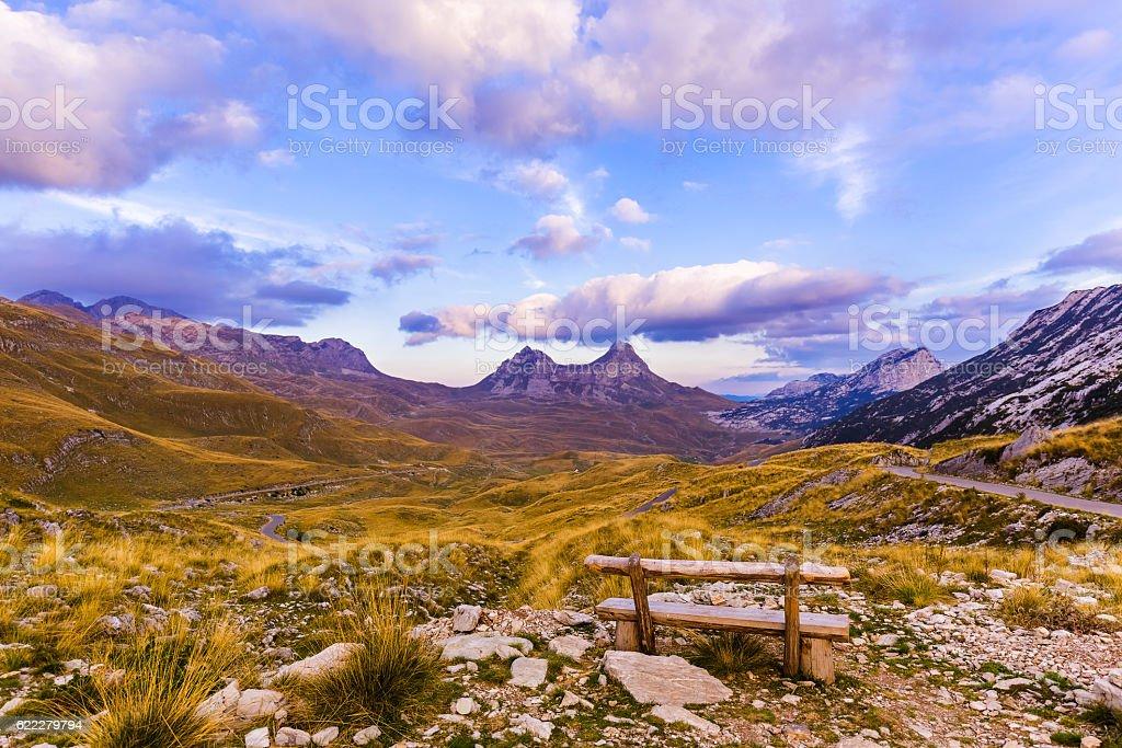 National mountains park Durmitor - Montenegro stock photo