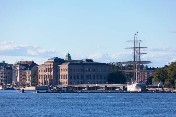 National Museum in Stockholm stock photo