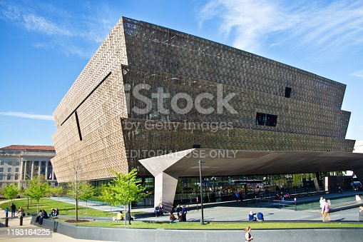 National Museum of African American History and Culture Building in Washington DC, USA. A popular visitors and tourists destination in the capital city.