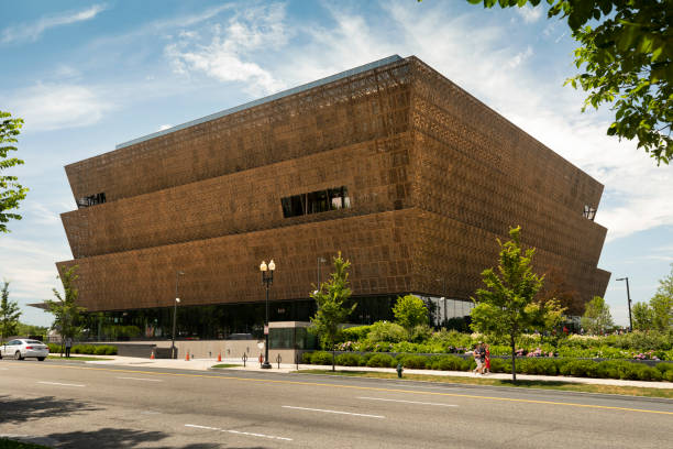 National Museum of African American History and Culture in Washington DC stock photo