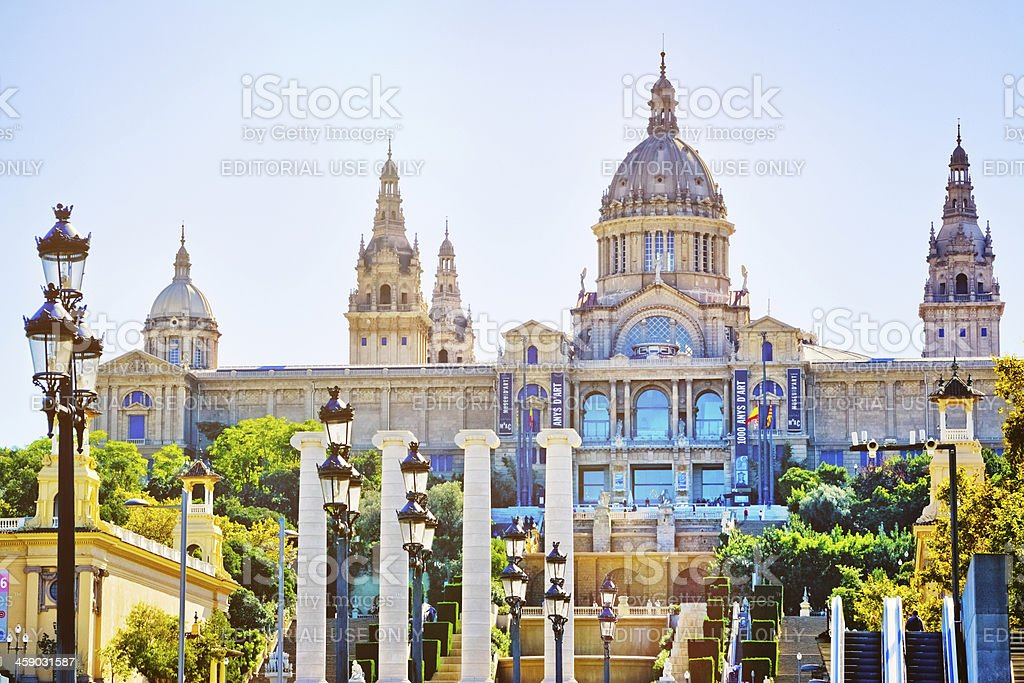 National Museum of Catalonia Art, Barcelona stock photo