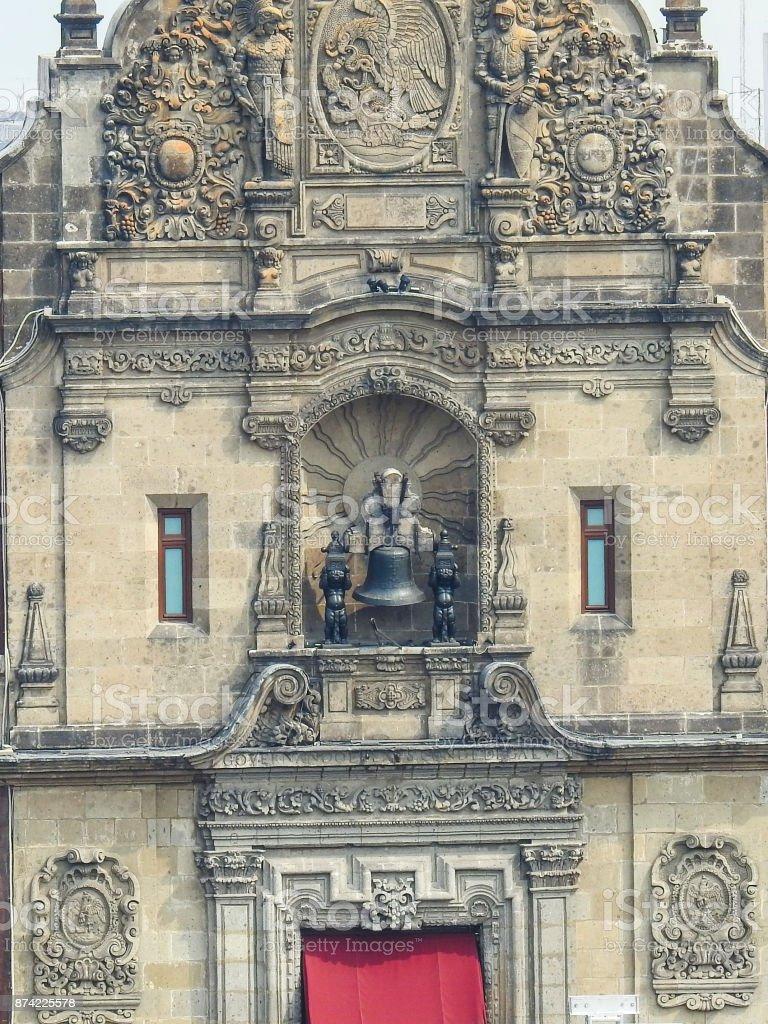 Balcon de palacio Nacional stock photo