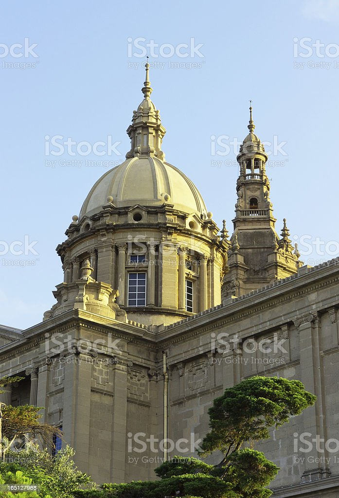 National Palace Barcelona royalty-free stock photo