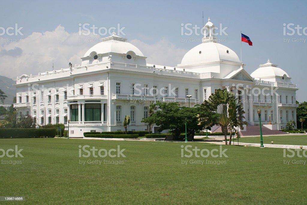 National Palace Haiti stock photo