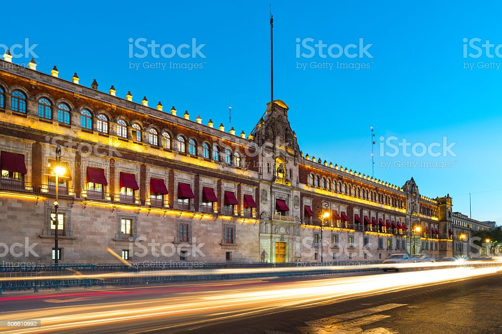 National Palace Mexico City Palacio Nacional stock photo