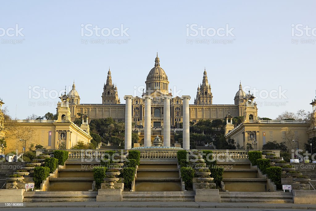 National Palace of Barcelona stock photo