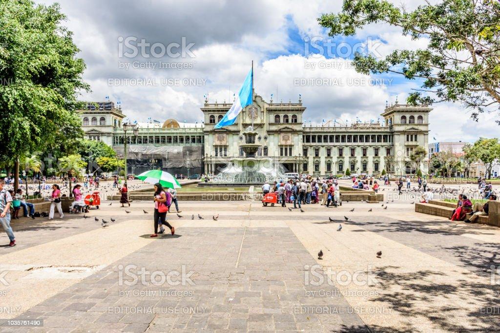 Nacional Palacio de la cultura, Plaza de la Constitución, Guatemala ciudad, Guatemala - foto de stock