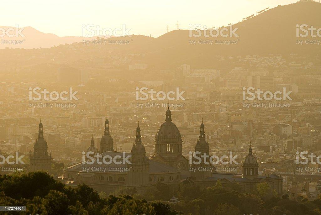 Palacio nacional - Foto de stock de Barcelona - España libre de derechos