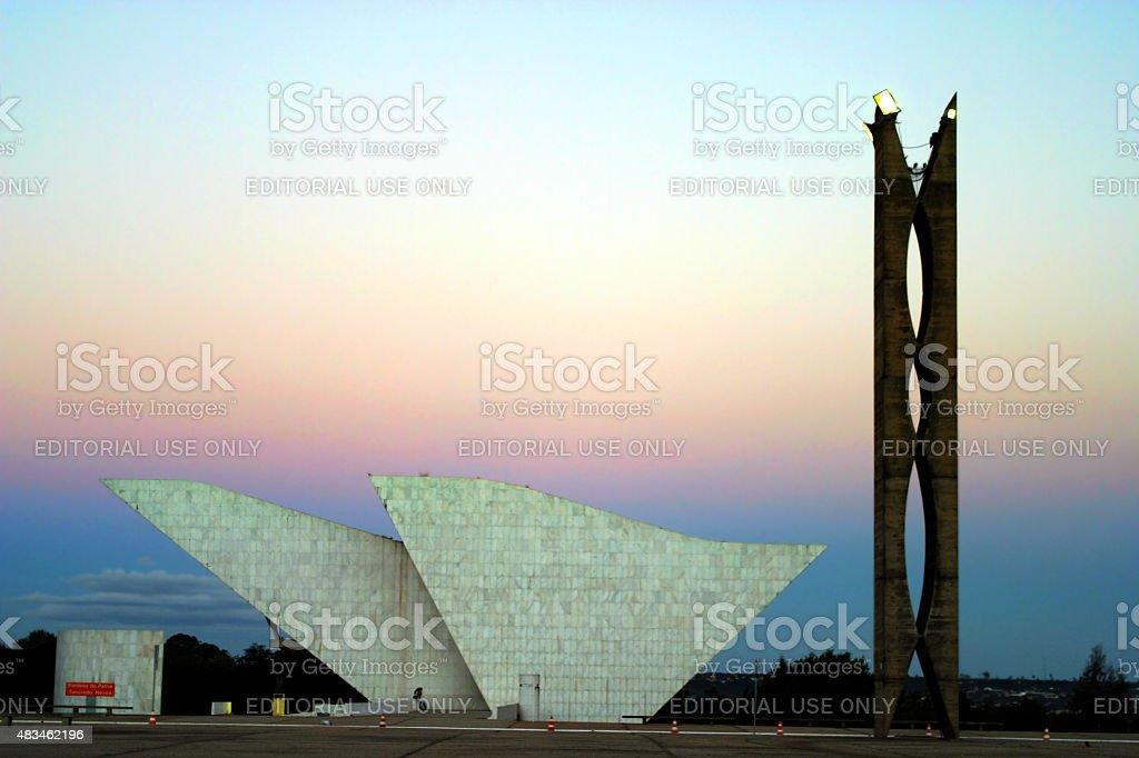 Panteão Nacional de Brasília, Brasil ao pôr-do-sol foto royalty-free