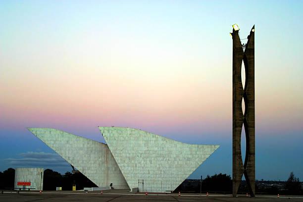 Panteão Nacional de Brasília, Brasil ao pôr-do-sol - foto de acervo