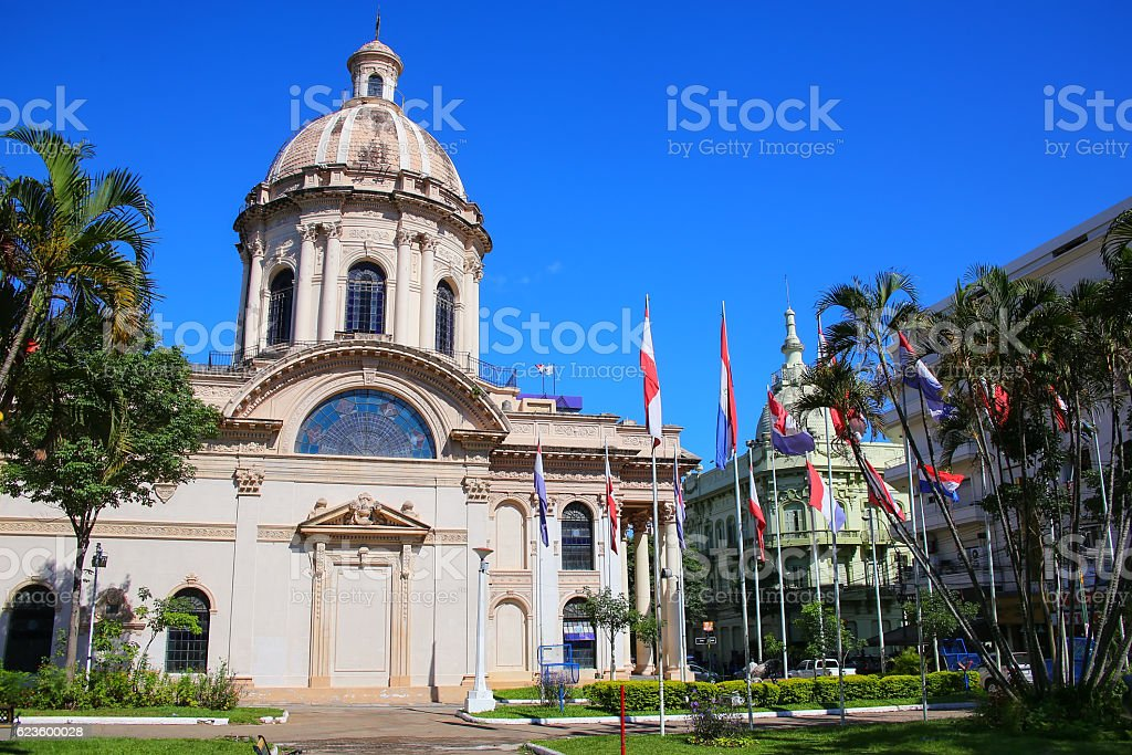 National Pantheon of the Heroes in Asuncion, Paraguay stock photo