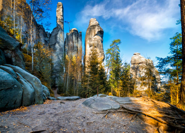 national park adrspach-teplice rocktown - czech republic stock pictures, royalty-free photos & images