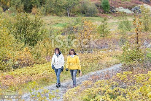 istock National Park continental divide during day landscape with asian tourists people walking on trail 1131384212