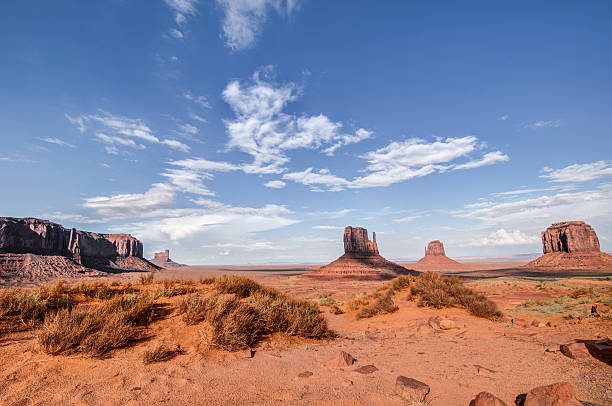 National park monument valley auth and arizona USA stock photo