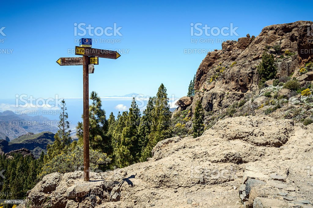 National Park Roque Nublo, Gran Canaria, Spain stock photo