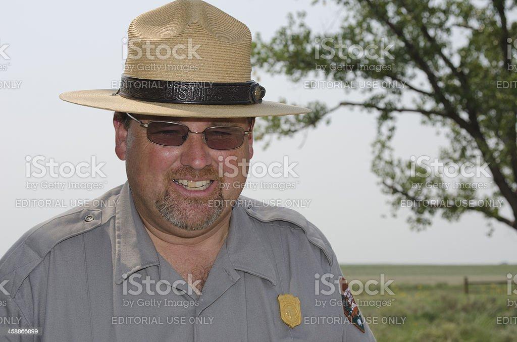 National Park Service Ranger stock photo