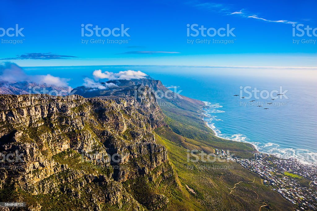 National Park Table Mountain stock photo