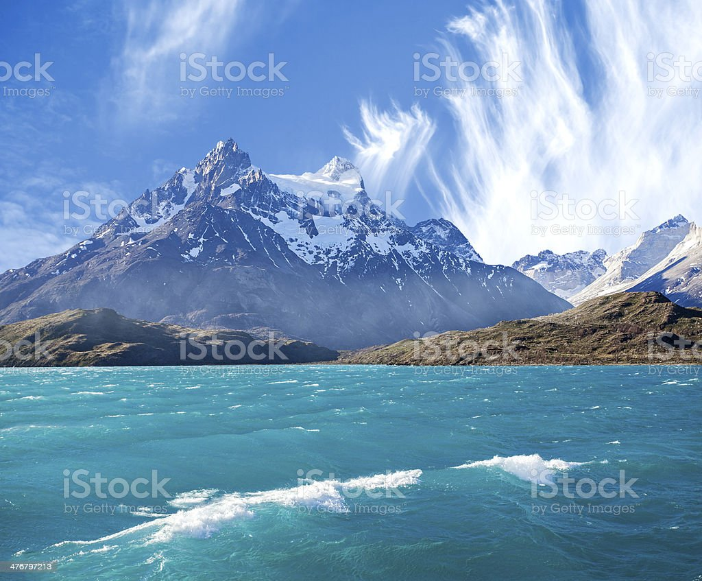 National Park Torres del Paine, Chile. stock photo