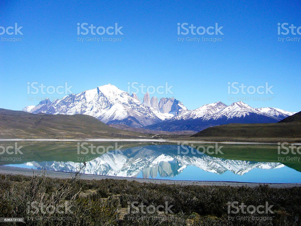 National park torres del paine chile stock photo