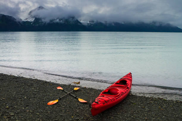 National parks and nearby wildernesses and towns in Alaska. stock photo
