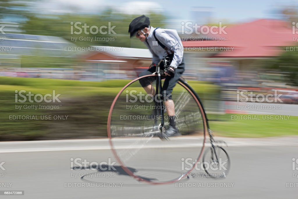 National Penny Farthing Championships. stock photo