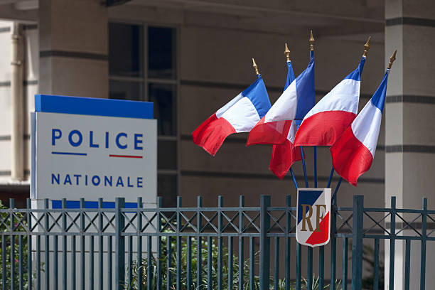 Police Nationale stock photo