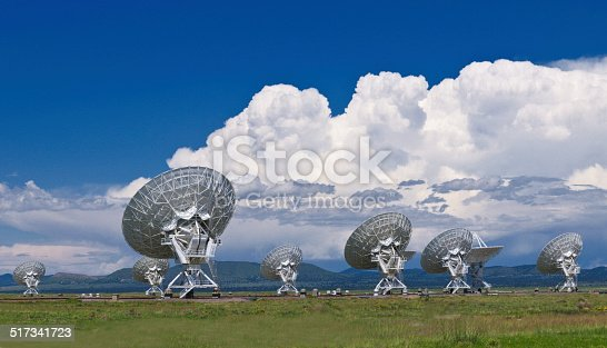 Giant satellite dishes field in New Mexico.