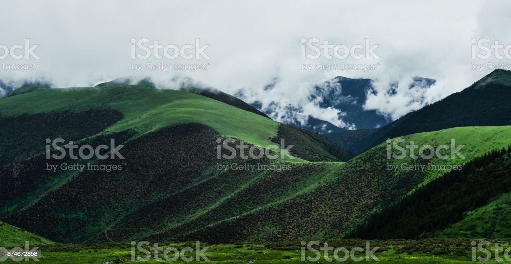 318 national road scenery stock photo