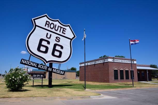 National Route 66 Museum in Elk City stock photo
