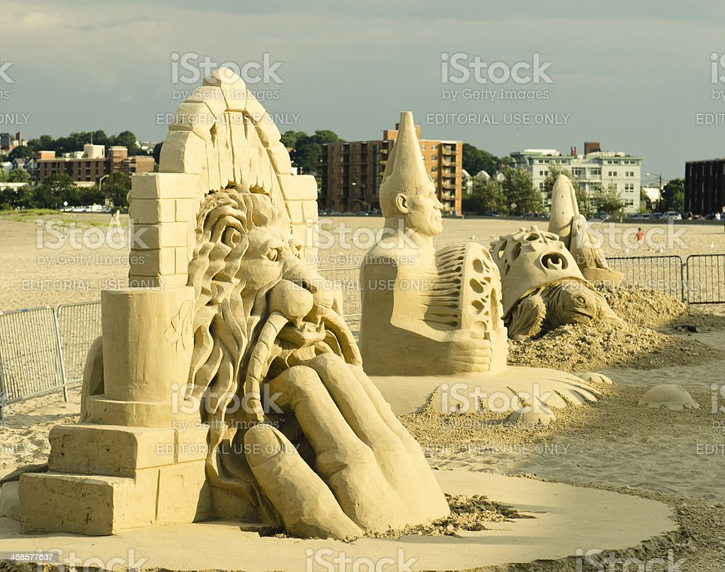 National Sand Sculpting festival on Revere beach stock photo