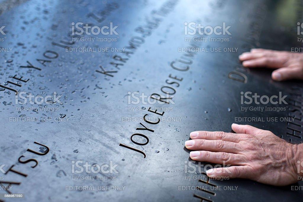 National September 11 Memorial in Manhattan stock photo
