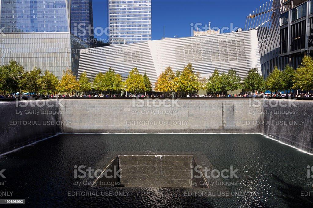 National September 11 Memorial, World Trade Center, Manhattan, New York. stock photo