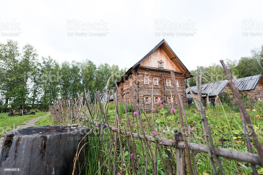 National Slavic houses stock photo