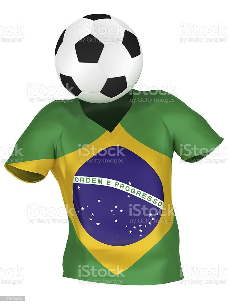 National Soccer Team of Brazil royalty-free stock photo
