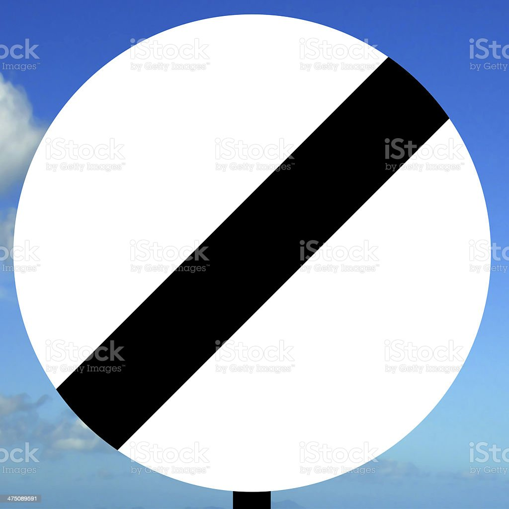 National speed limit sign stock photo