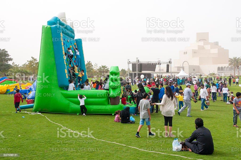 National Sports day, Doha, Qatar stock photo