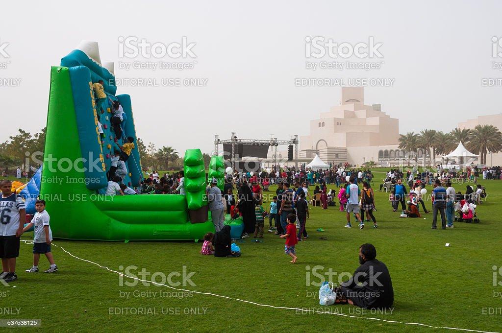 National Sports day, in Doha, Qatar stock photo