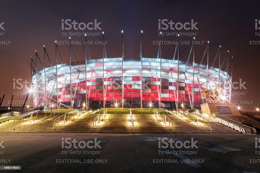 National Stadium in Warsaw stock photo