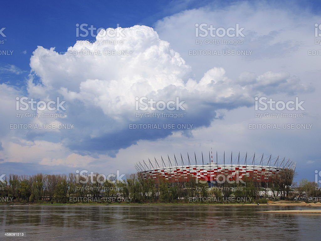 National Stadium in Warsaw, Poland royalty-free stock photo