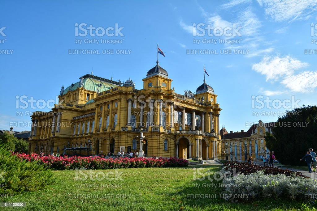 Teatro Nacional Edificio En Zagreb Hosting Opera Drama Y