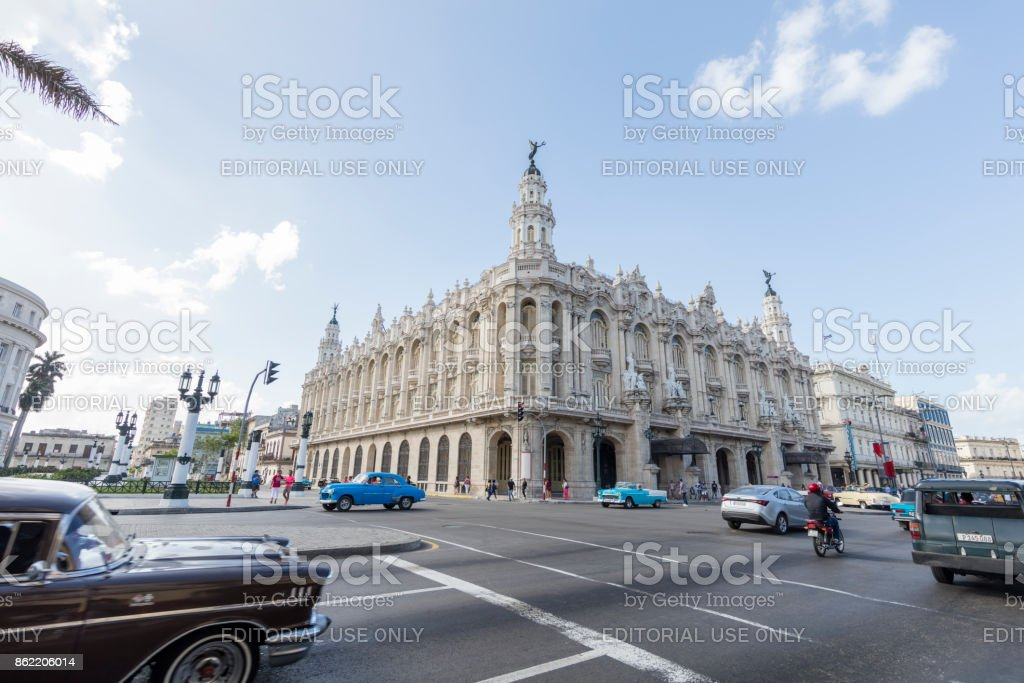 National Theater of Havana, Cuba stock photo